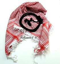 SHEMAGH SCARF Keffiyeh Red Jordanian Kafiya Arab Checkered Shawl with Agal Set