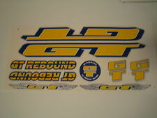 GT Rebound Stickers  Yellow, Dark-Blue & Silver.