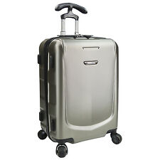 """Traveler's Choice Palencia Gray 22"""" Carry-on Hardside Luggage Spinner Suitcase"""