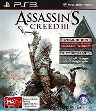 PS3 Assassin's Creed III  3D Compatible playstation 3 game