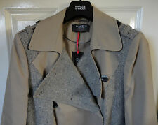 Limited Collection Mac Coat with Wool, Natural Colour, Size 12, BNWT, Was £89