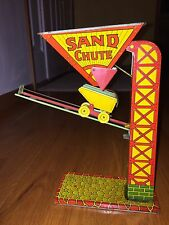 J Chein & Co Vintage 1920's Tin Metal Lithograph Sand Chute Toy