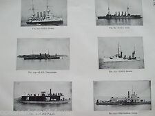 ANTIQUE PRINT 1926 SHIP H.M.S HERMES NIOBE SHARPSHOOTER HAZARD MOSQUITO PHOTO