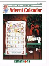 O Holy Night Advent Calendar Ruth Morehead Pattern Leaflet Book Dimensions 1991