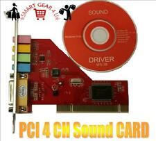 4 Channel Creative Chipset Sound Card 3D Stereo Audio Adapter Win7 32Bit Midi