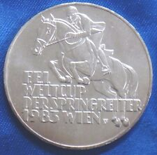 1983 Austria 500 Schilling Silver Coin World Cup Horse Jumping Championship