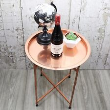 Round Copper Coffee Table Contemporary Furniture Modern Decor Home - Free P&P