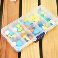 1x Plastic 10 Slots Adjustable Storage Box Case for Electronic Component