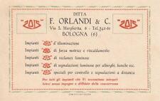 C470) BOLOGNA, ORLANDI & C.,  IMPIANTI ZOIS DI ILLUMINAZIONE.