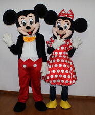 New Mickey & Minnie Mouse Mascot Costume Fancy Dress Adult size Lot of 2