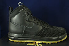 NIKE LUNAR FORCE 1 DUCKBOOT BLACK METALLIC SILVER WATERPROOF 805899 003 SZ 14