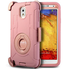 Heavy Duty Hybrid Hard Case Cover Belt Clip Holster For Samsung Galaxy Note 3