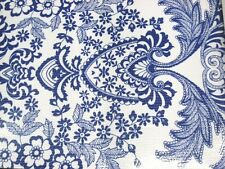 BLUE PARADISE LACE RETRO KITCHEN DINING PATIO OILCLOTH VINYL TABLECLOTH 48x72