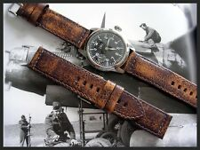 22mm Distressed Vintage antique aged Mil Bomber Pilot watch band strap IW SUISSE