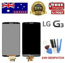 NEW LG G3 D855 LCD Digitizer Touch Screen Glass Replacement Black + Adhesive