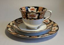 Vintage 1930s Royal Albert Bone China Trio #8. VGC. Gold Finishing by Hand