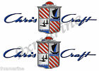 Chris Craft Custom Decals - 10 inch long set. Remastered name plate