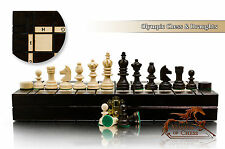 Chess and Draughts OLYMPIC 35cmx35cm Wooden Set! Superb Hand Crafted Chessboard!