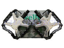 "New Wellgo LU-953 BMX Bicycle Bike Bear Trap Style Pedals 9/16"" Black"