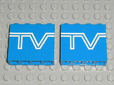 LEGO Panel with TV-Logo Pattern ref 4215ap09 / Set  6661 Mobile TV Studio