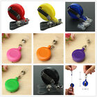 5/10 Retractable Reel Recoil ID Badge Lanyard Name Tag Key Card Holder Belt Clip