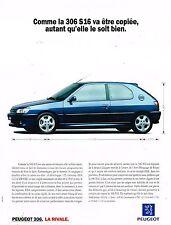 Publicité Advertising 1994 Peugeot 306 S16