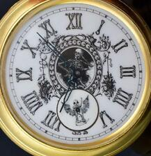MUSEUM Victorian Automaton Doctor's Memento Mori SKULL pocket watch.Giant 80mm!