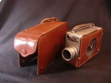 Old Vtg Bell & Howell 16mm Magazine Movie Camera 200 Leather Case