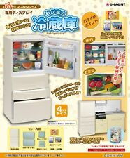 12/2016 Re-Ment Miniature Kitchen Fridge Refrigerator (White) Set