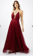 Topshop BERRY TULLE LACE UP MAXI Dress petite  Uk4 *prom, Ball, Special Dress*