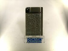 Ronson Venetian gunmetal turbo gas lighter (R13012Vblk)