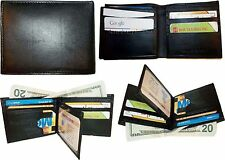 Lot of 4 New Man's Roman styled leather 2 billfold wallet 12 credit card ID case