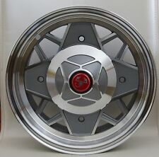 CLASSIC MINI / FIAT 500 / FIAT 126  SET OF 4 ALUMINIUM WHEELS MILLE MIGLIA GREY