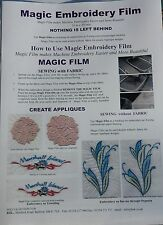 Magic Embroidery Film / backing for embroidery Machine  10mtr x 50 cms  A816