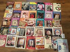 Lot 35+ Cross Stitch & Country Crafts Just Plus Classic Cross Stitcher magazines