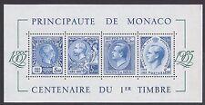 MONACO - BF - 1985 - 100° del primo francobollo di Monaco du I° timbre d Monaco