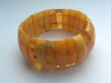 Vintage Genuine Butterscotch Yellow Amber Articulated Bracelet