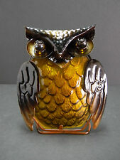 Metal And Glass Owl Tea Light Candle Holder