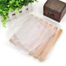 4Pcs Silicone Food Storage Fresh Keep Cling Film Wraps Seal Cover Kitchen Tools
