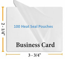 """5 Mil Business Card Size Heat Sealing Laminating Pouches 100  2.25"""" x 3.75"""""""