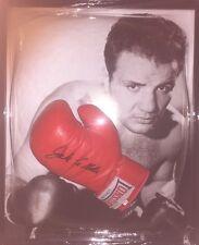Signed Framed Jake La Motta Boxing Glove 'Raging Bull'