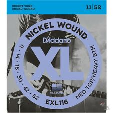 D'addario EXL116 Medium Top Heavy Bottom Electric Guitar Strings 11-52