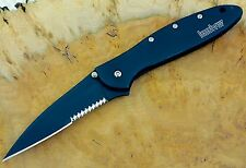 (1)  1660CKTST Leek Kershaw pocket knife combo edge 1660 speedsafe Made USA BLEM