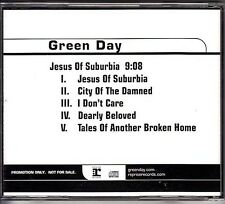 Green Day Jesus Of Suburbia RARE promo CD single '04