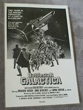 Battlestar Galactica 1978 Glen A. Larson Lorne Greene Richard Hatch Poster EX C8