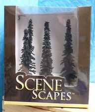 "BACHMANN SCENE SCAPES 5-6"" CONIFER TREES NO. 32003- 6PC NIB MODEL REPLICAS- 2E"