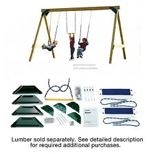 Playground Swing Set Kit Build It Yourself Hardware Seat Trapeze A Frame Style