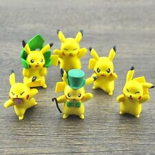 Pokemon Monster Pikachu Pokémon Cake Topper Figure Toy Set of  6pc #B NEW AU