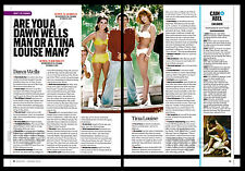 Dawn Wells, Tina Louise 2-pg clipping 2014 Mary Ann & Ginger - Gilligans Island