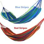 Hanging Hammock Portable Cotton Swing Fabric Rope Outdoor Camping Canvas Bed J